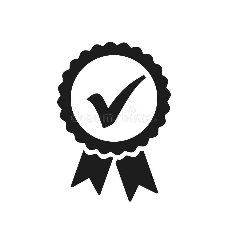 """Ícone da verificação da aprovação, vetor do †do sinal da qualidade """" ilustração royalty free"""