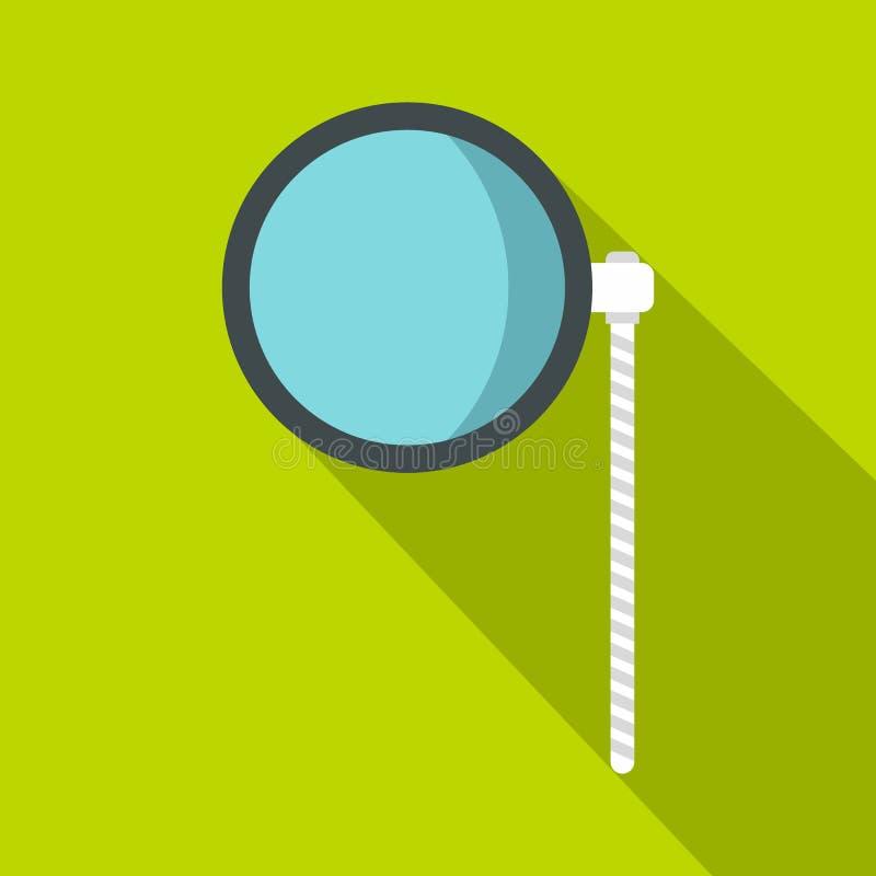Ícone da verificação do olho, estilo liso ilustração stock