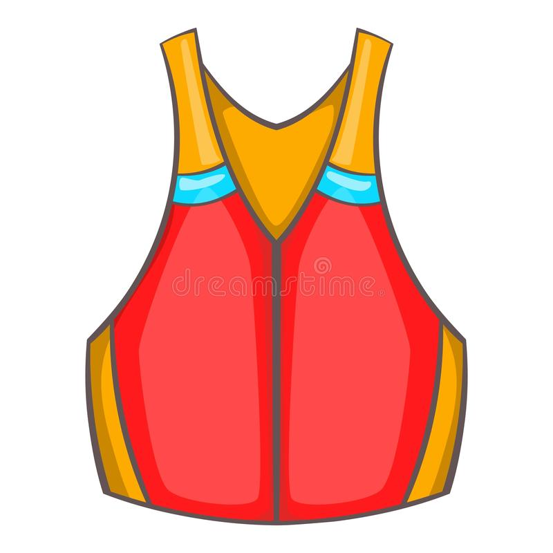 Ícone da veste de vida, estilo dos desenhos animados ilustração royalty free