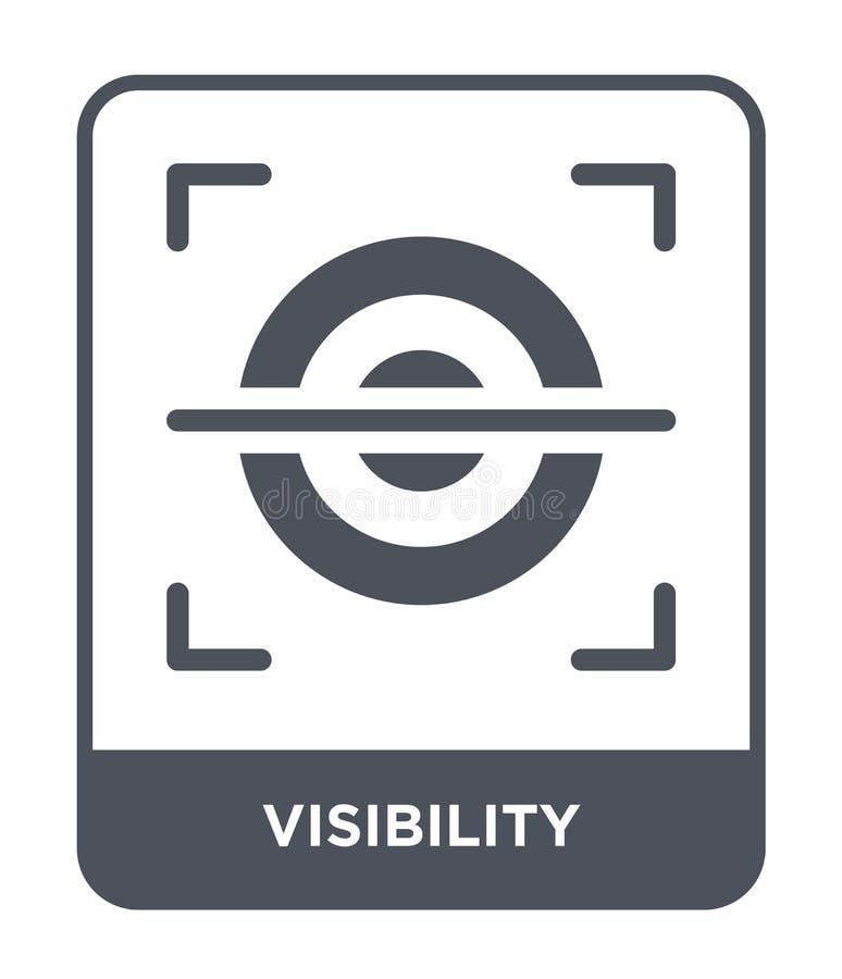 ícone da visibilidade no estilo na moda do projeto Ícone da visibilidade isolado no fundo branco ícone do vetor da visibilidade s ilustração royalty free
