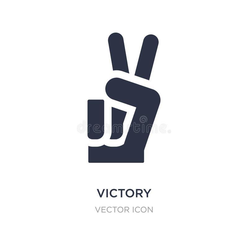 ícone da vitória no fundo branco Ilustração simples do elemento do conceito da paz de mundo ilustração stock