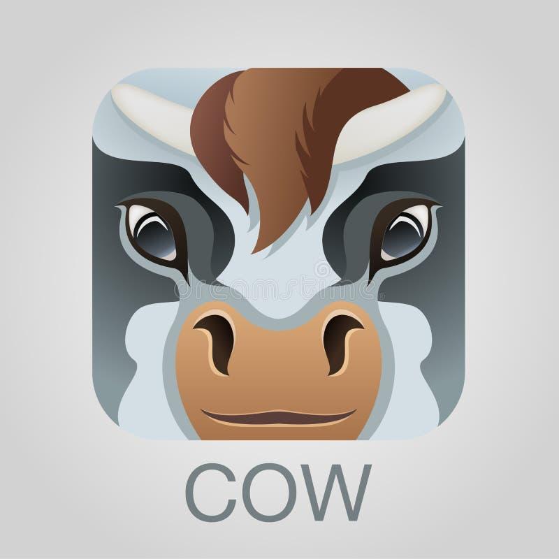 Ícone da vitela bonito imagens de stock