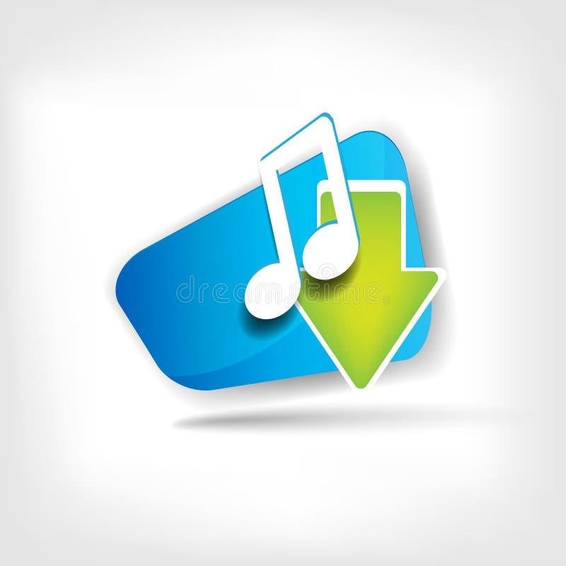 Ícone da Web da música ilustração do vetor