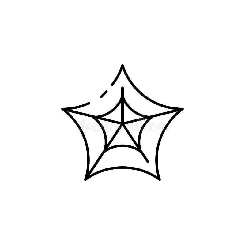 Ícone da Web de aranha Elemento do ícone do feriado de Dia das Bruxas para apps móveis do conceito e da Web A linha fina Web de a ilustração stock
