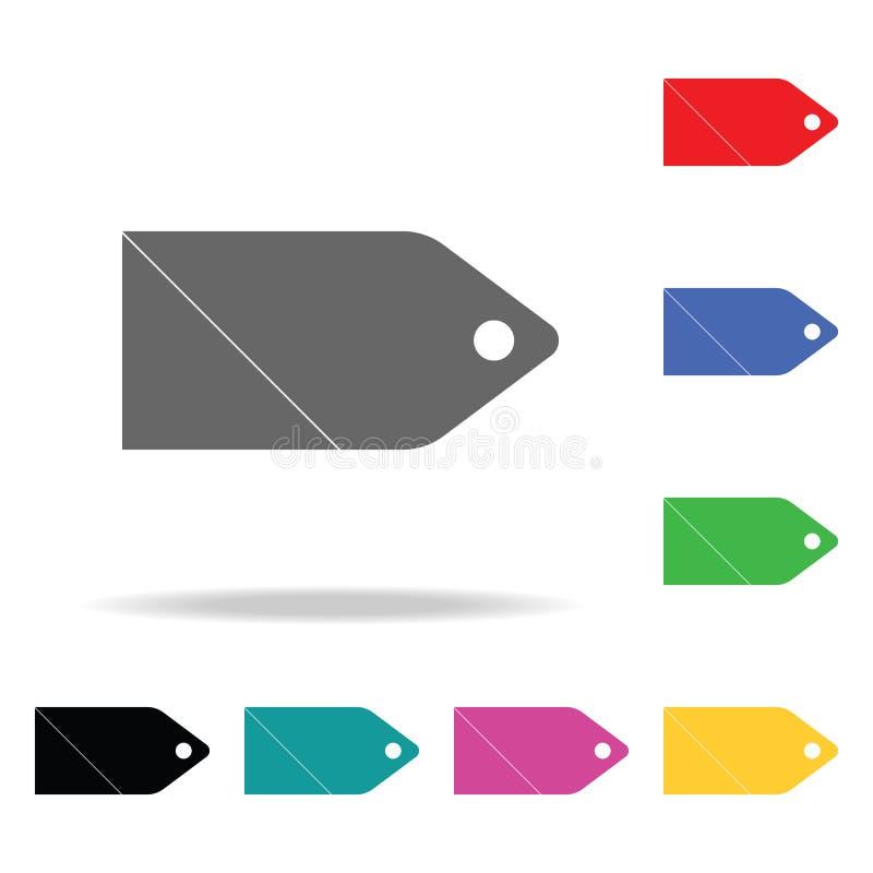 ícone da Web do preço Elementos em multi ícones coloridos para apps móveis do conceito e da Web Ícones para o projeto do Web site ilustração royalty free