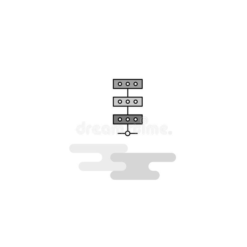 Ícone da Web da rede A linha lisa encheu Gray Icon Vetora ilustração stock