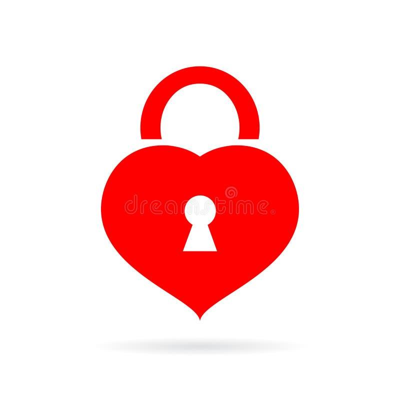 Ícone dado forma coração do vetor do fechamento ilustração do vetor