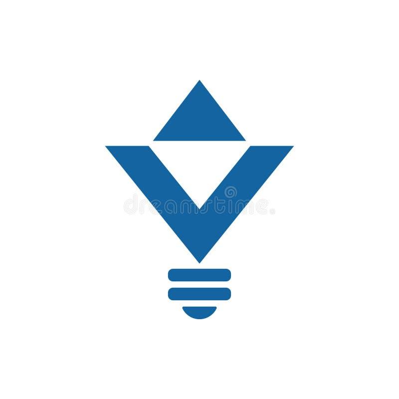 Ícone dado forma diamante do bulbo ilustração royalty free