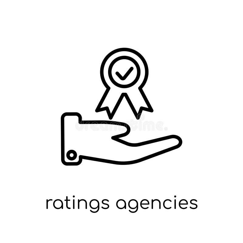 Ícone das agências de avaliações  ilustração royalty free