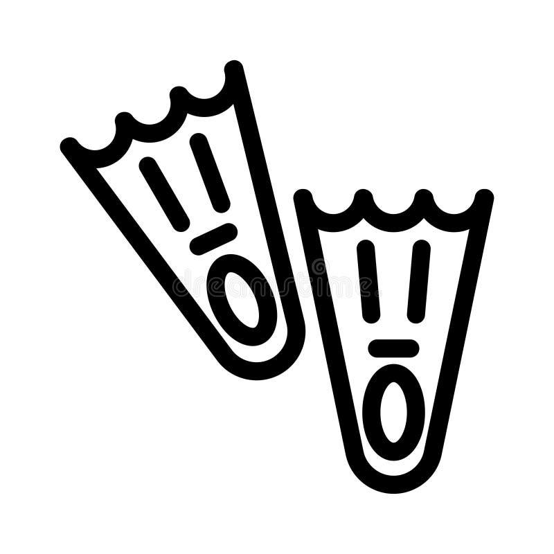 Ícone das aletas de natação ilustração royalty free