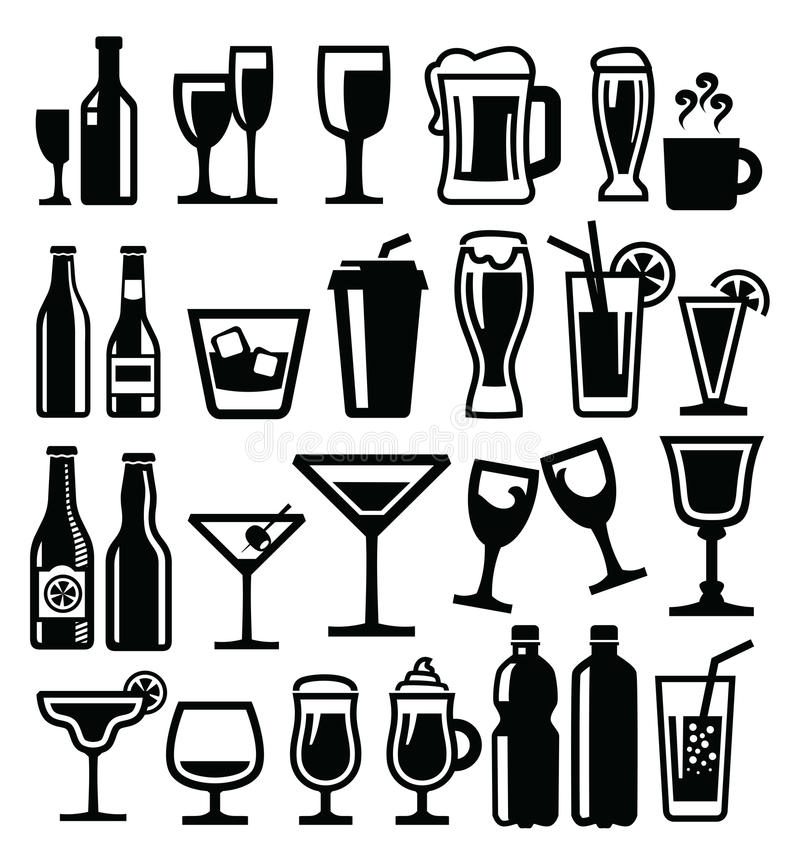 Ícone das bebidas ilustração royalty free