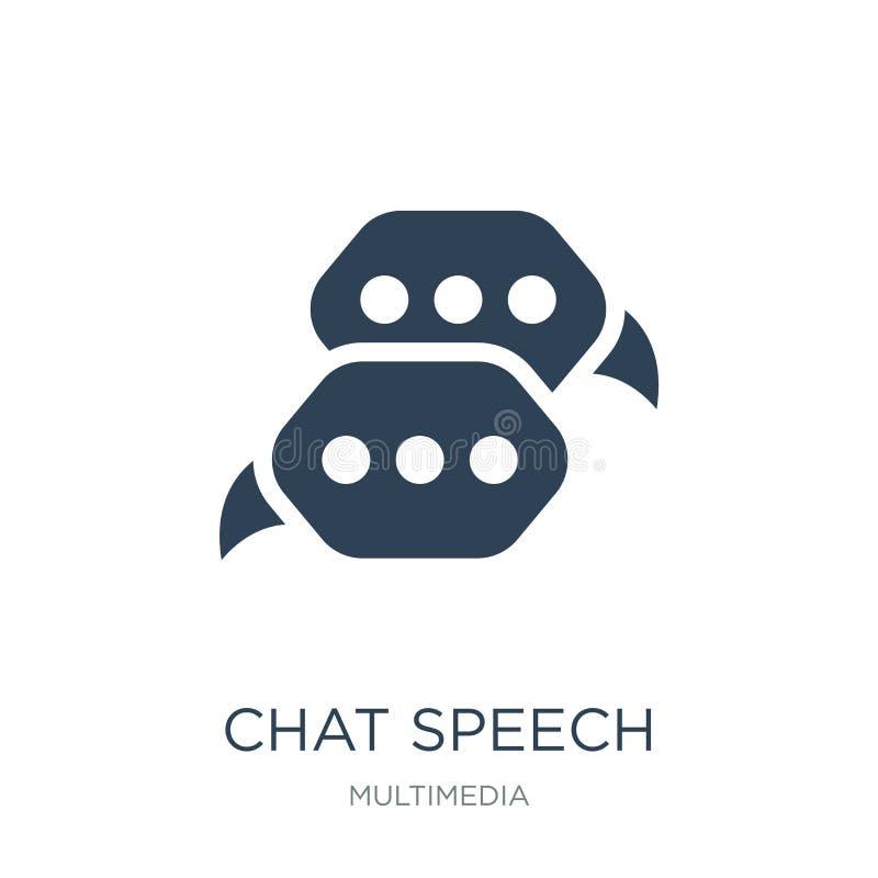 ícone das bolhas do discurso do bate-papo no estilo na moda do projeto ícone das bolhas do discurso do bate-papo isolado no fundo ilustração stock
