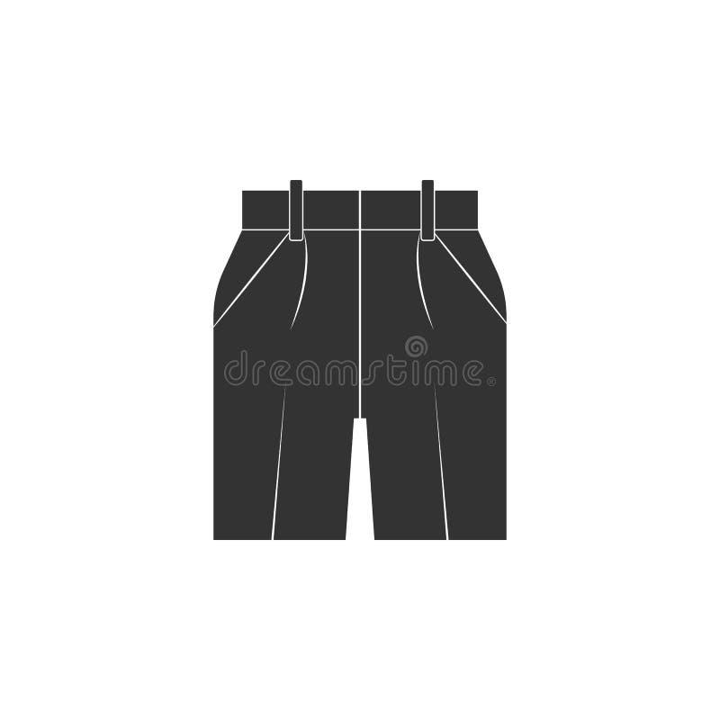 ícone das calças de brim de Bermuda Elemento do ícone das calças de brim para apps móveis do conceito e da Web O ícone das calças ilustração royalty free