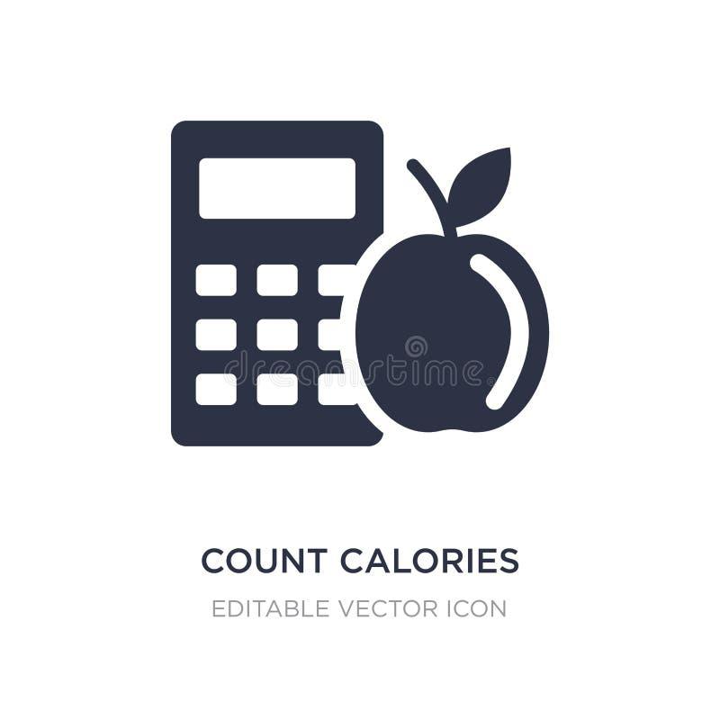 ícone das calorias da contagem no fundo branco Ilustração simples do elemento do conceito geral ilustração royalty free