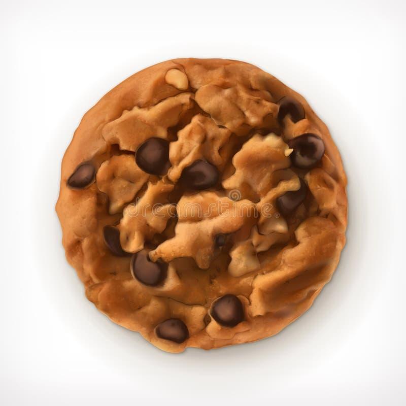 Ícone das cookies do chocolate ilustração do vetor