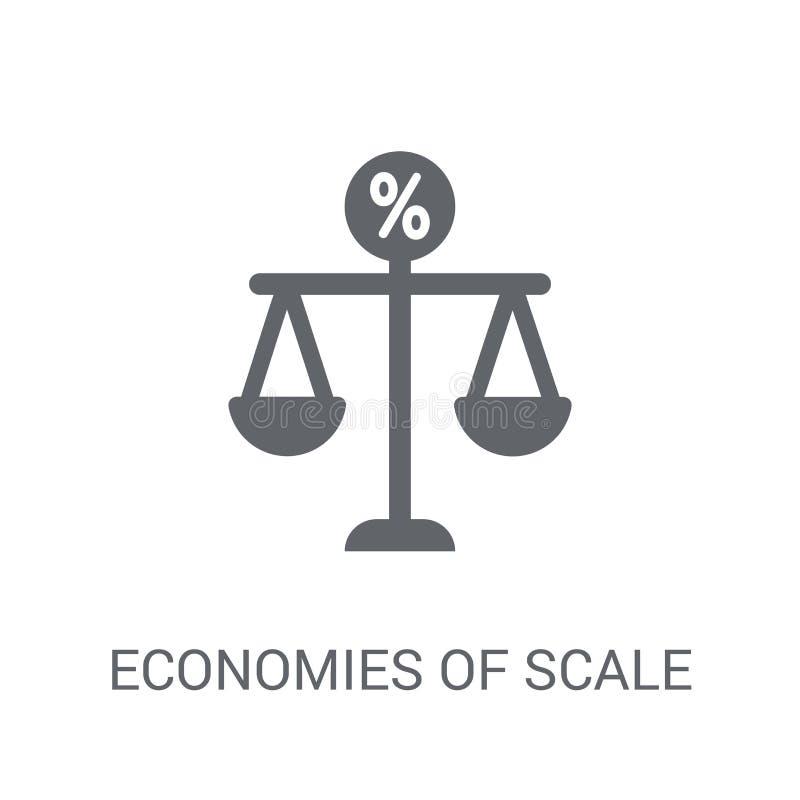 Ícone das economias de escala  ilustração royalty free