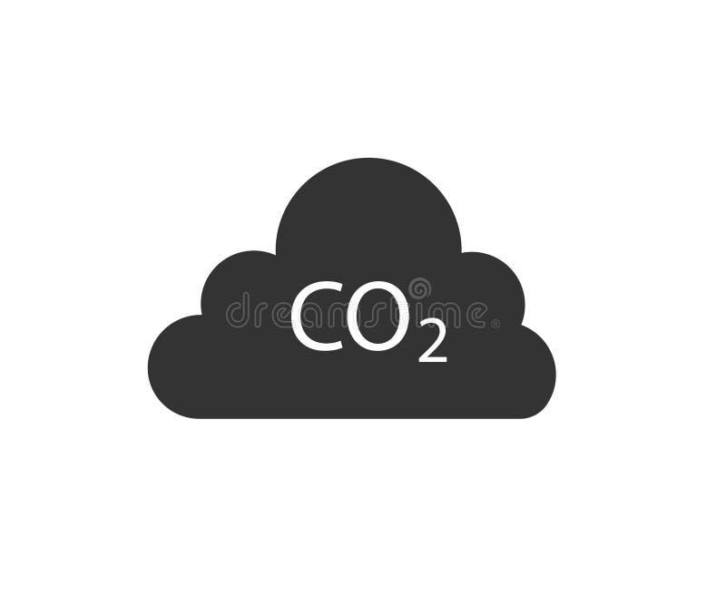 Ícone das emissões de CO2 ilustração royalty free