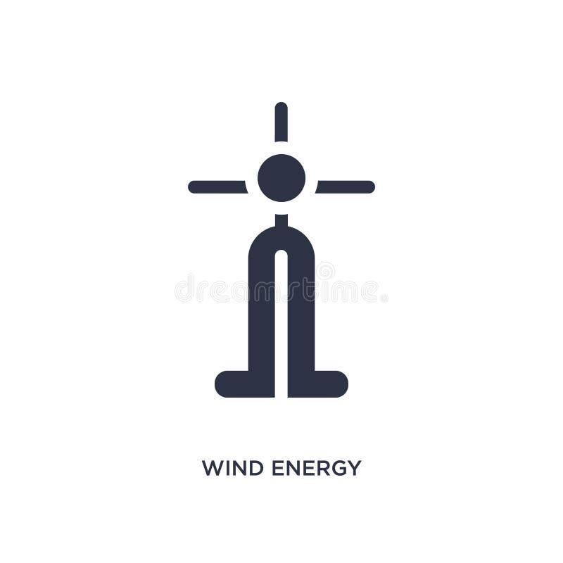 ícone das energias eólicas no fundo branco Ilustração simples do elemento do conceito da ecologia ilustração royalty free