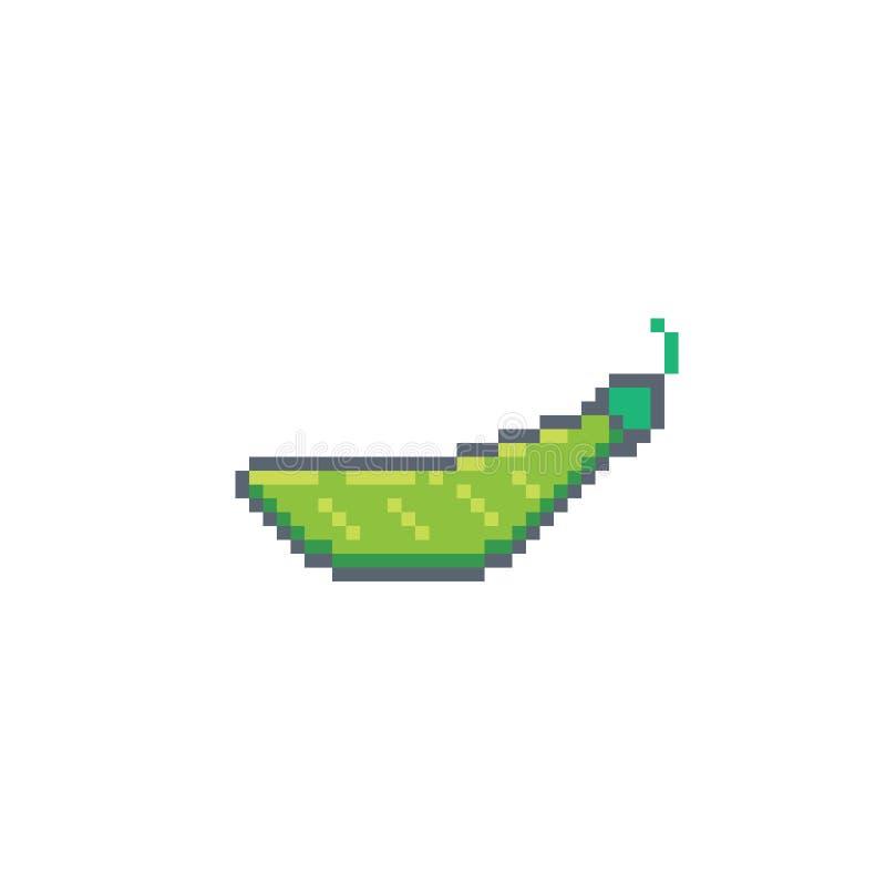 ?cone das ervilhas da arte do pixel ilustração stock