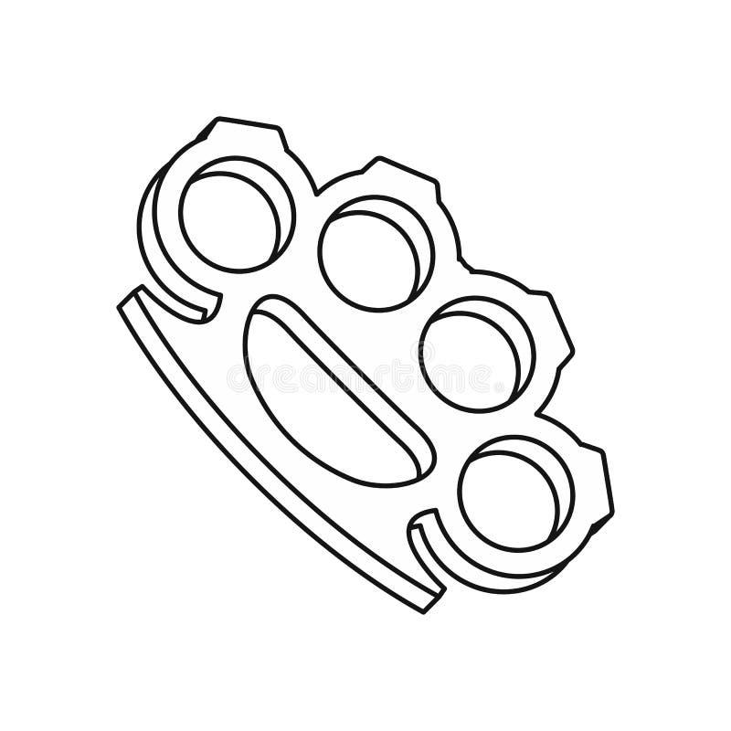Ícone das juntas de bronze, estilo do esboço ilustração do vetor