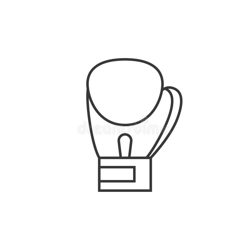 Ícone das luvas de encaixotamento ilustração do vetor