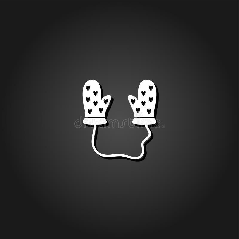 Ícone das luvas do bebê liso ilustração do vetor