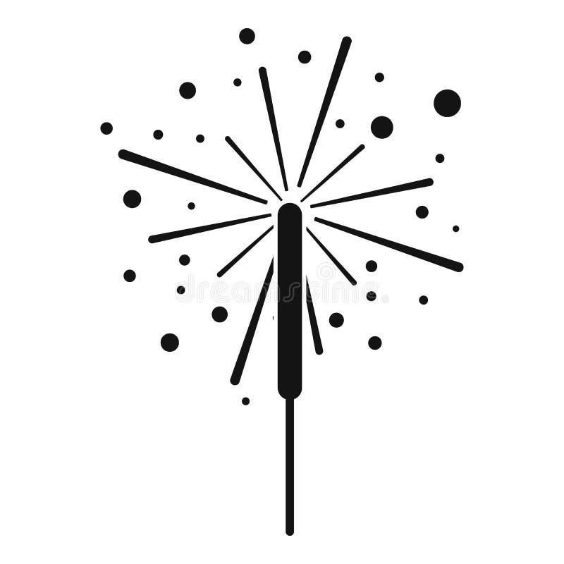 Ícone das luzes de Bengal, estilo simples ilustração do vetor