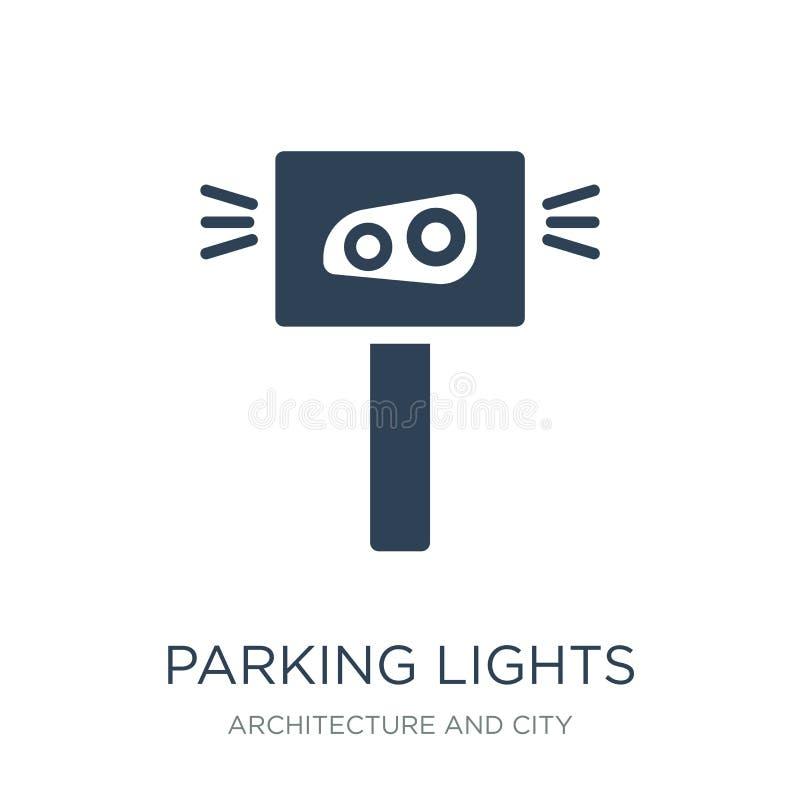ícone das luzes de estacionamento no estilo na moda do projeto ícone das luzes de estacionamento isolado no fundo branco ícone do ilustração do vetor