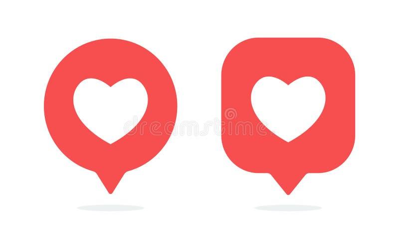 Ícone das notificações Como o vetor do ícone Os meios sociais gostam do ícone ilustração royalty free