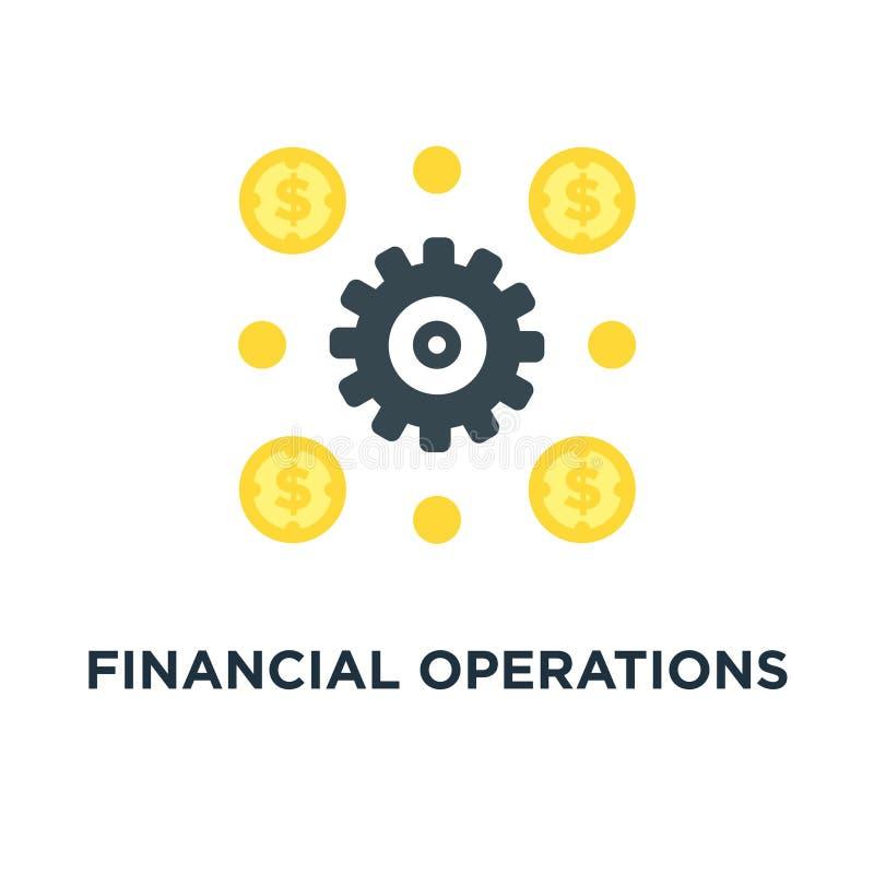 ícone das operações financeiras desi de financiamento do símbolo do conceito do conceito ilustração royalty free