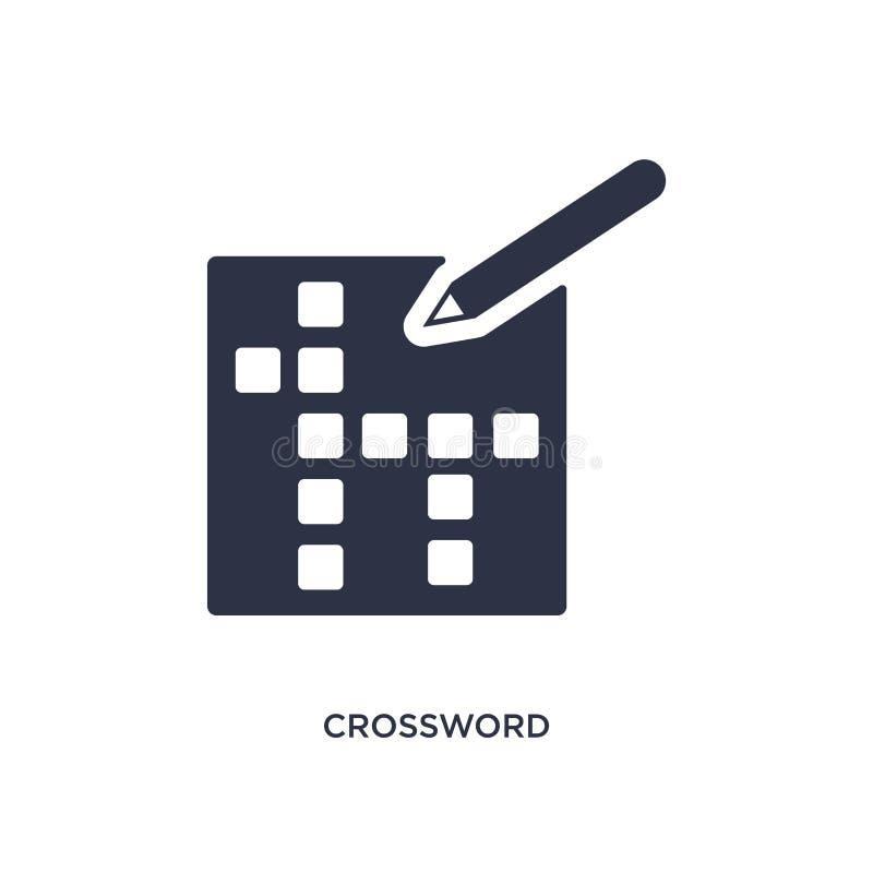 ícone das palavras cruzadas no fundo branco Ilustração simples do elemento do conceito do tempo livre ilustração stock