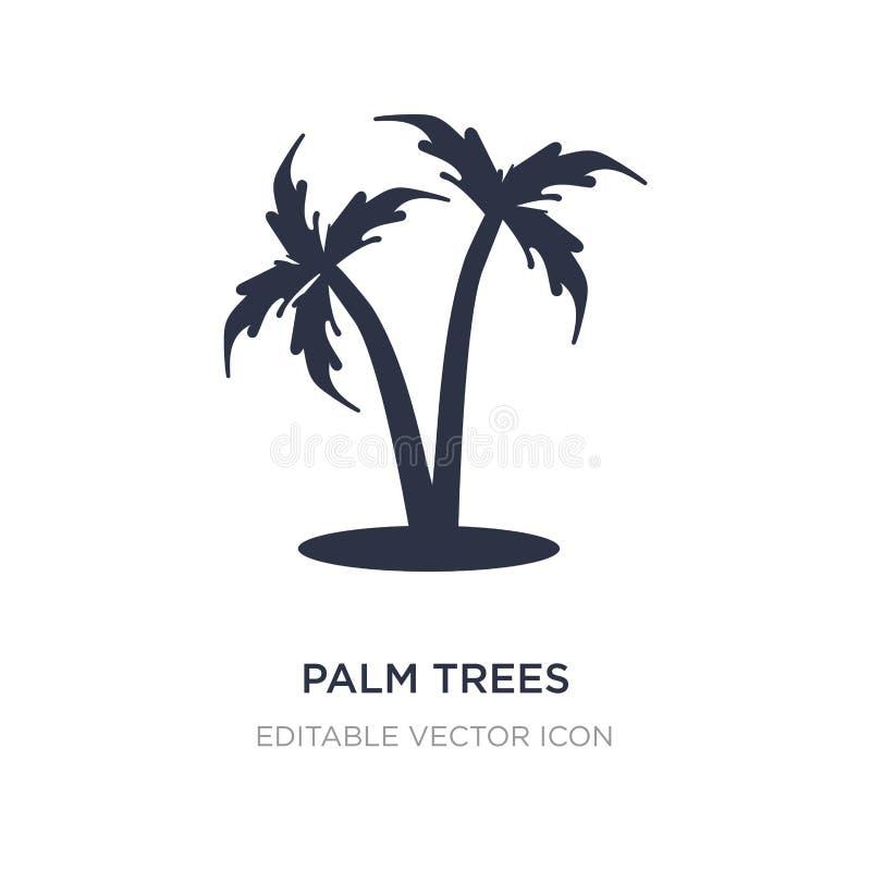 ícone das palmeiras no fundo branco Ilustração simples do elemento do conceito dos feriados ilustração do vetor