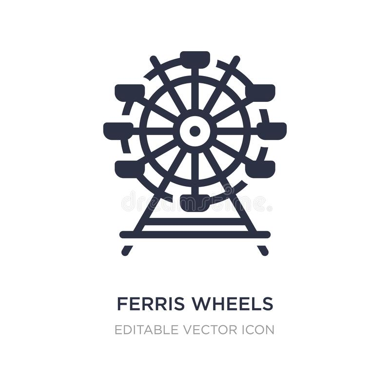 ícone das rodas de ferris no fundo branco Ilustração simples do elemento do conceito do negócio ilustração royalty free