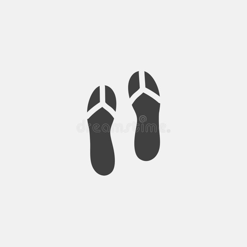 Ícone das sandálias ilustração royalty free