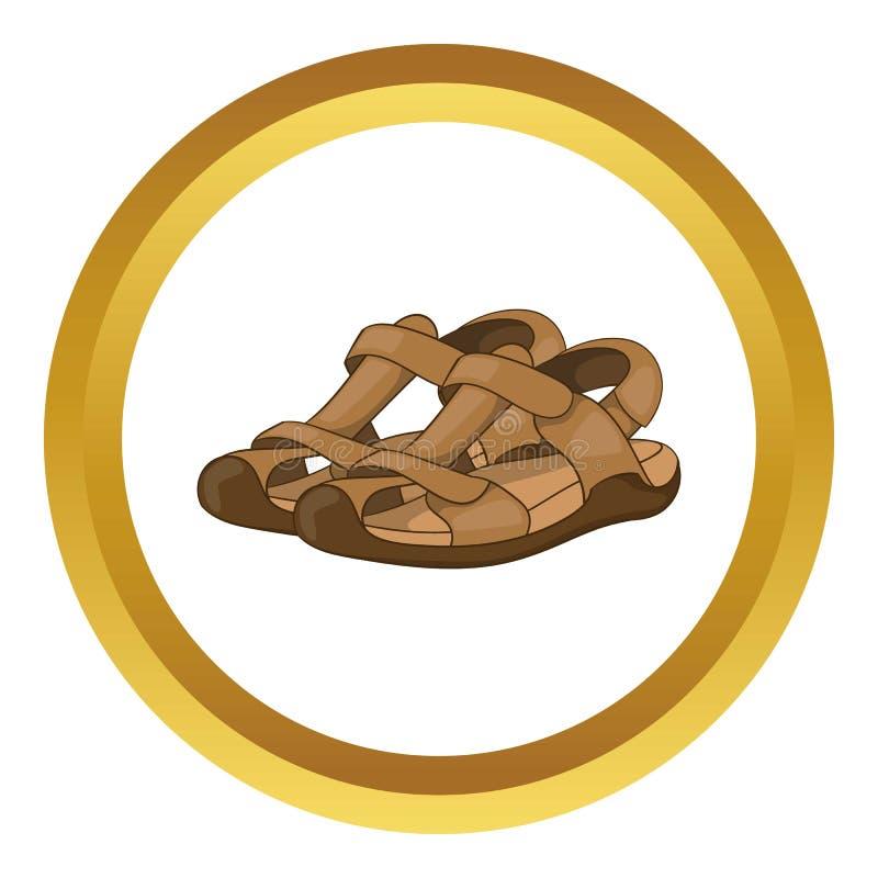 Ícone das sandálias ilustração stock