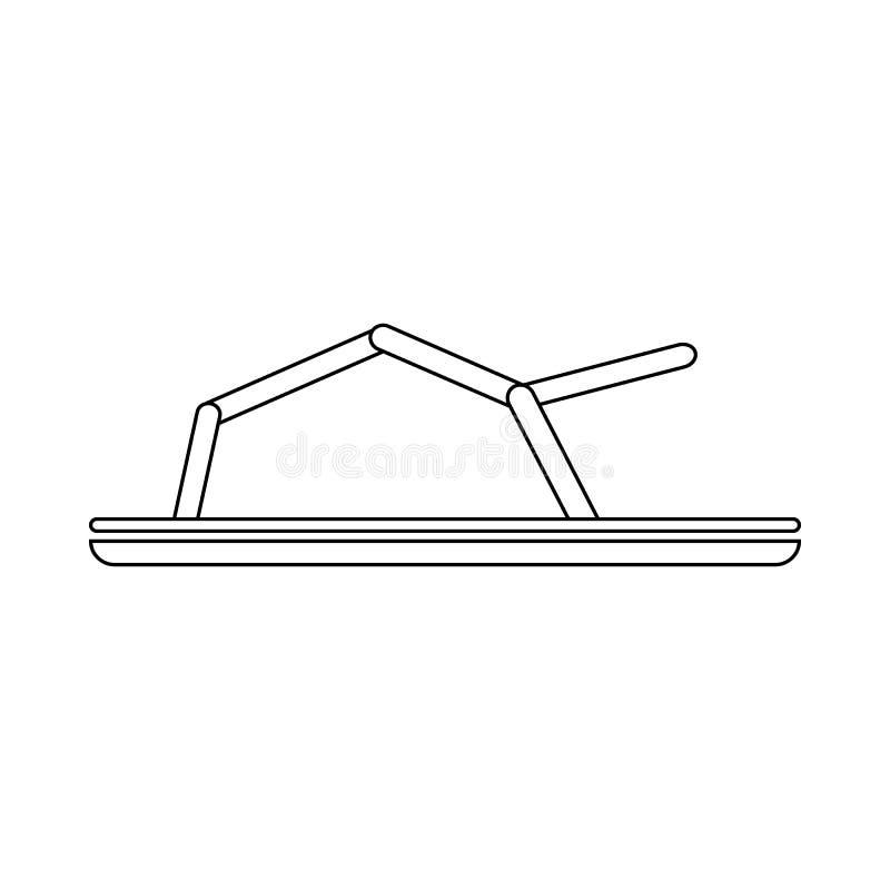Ícone das sandálias no estilo do esboço ilustração stock