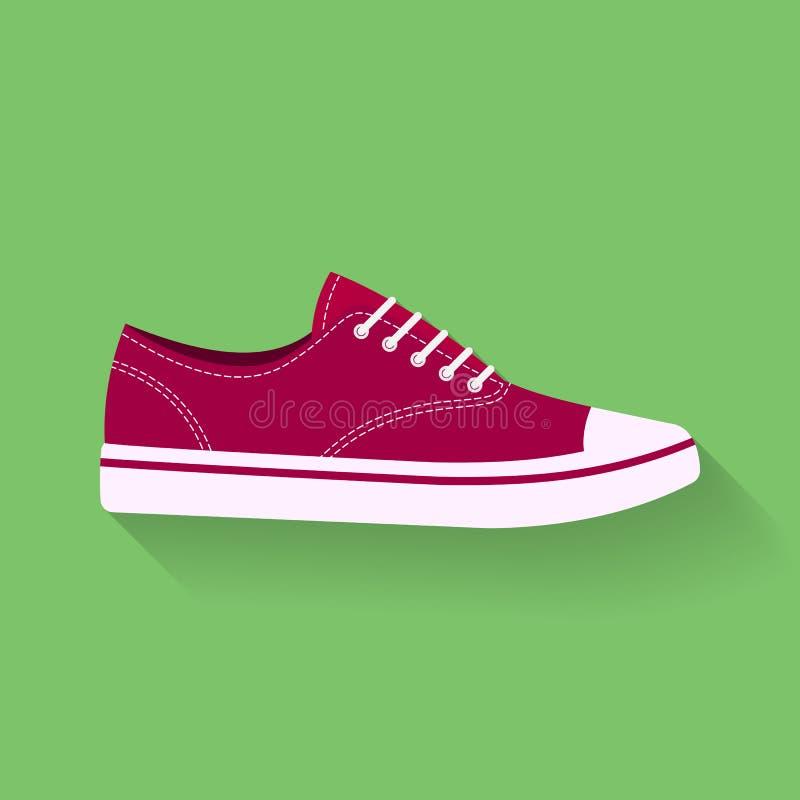 Ícone das sapatilhas Ostente sapatas, sinal do vetor dos calçados, símbolo ilustração do vetor