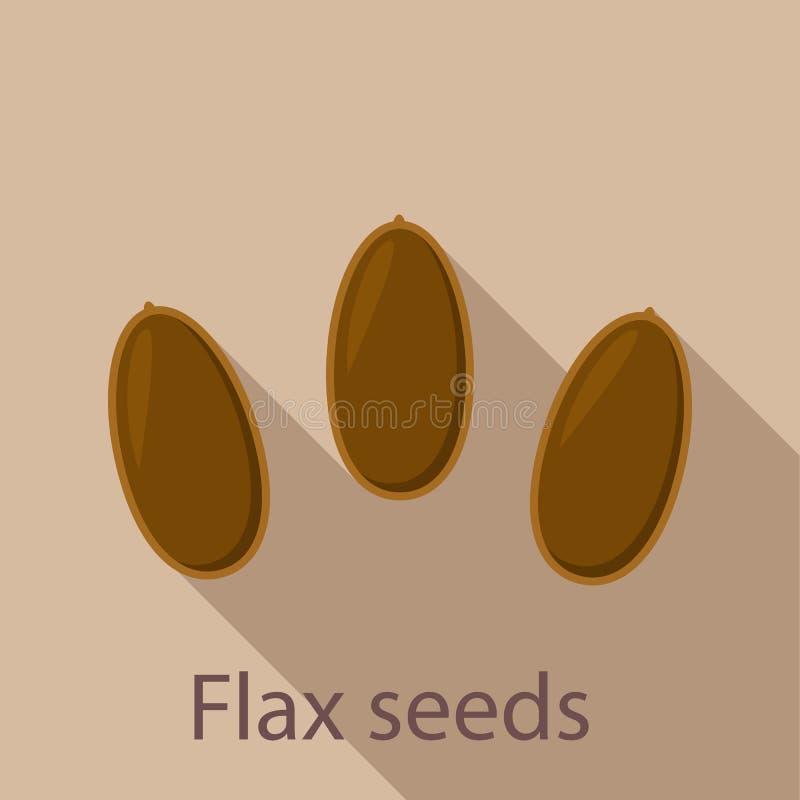 Ícone das sementes de linho, estilo liso ilustração do vetor