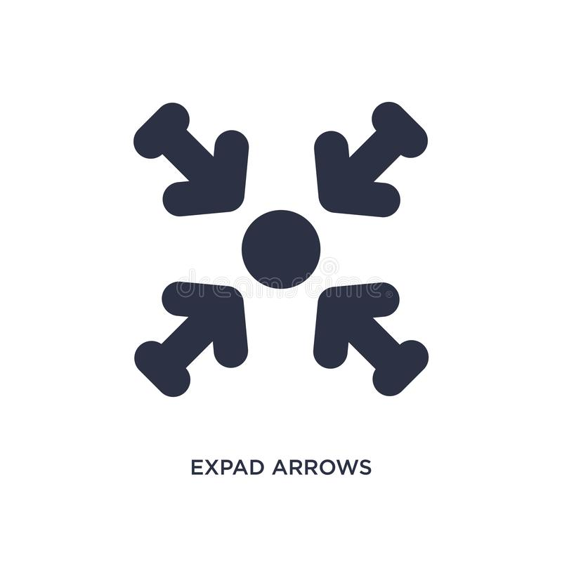 ícone das setas do expad no fundo branco Ilustração simples do elemento do conceito das setas ilustração royalty free