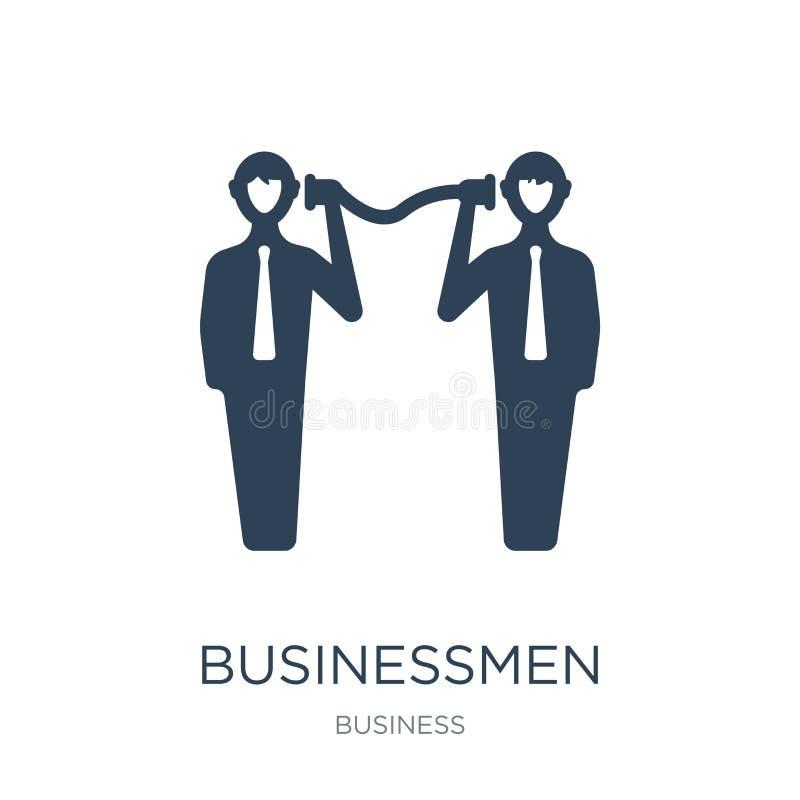 ícone das técnicas de uma comunicação empresarial dos homens de negócios no estilo na moda do projeto ícone das técnicas de uma c ilustração do vetor