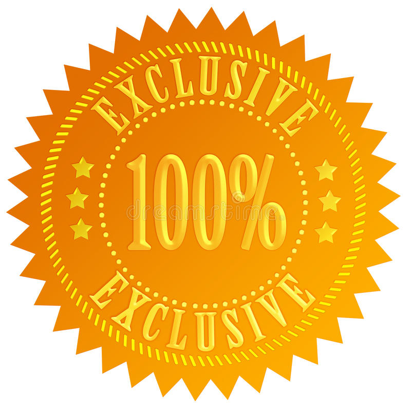 ícone de 100 exclusive ilustração stock