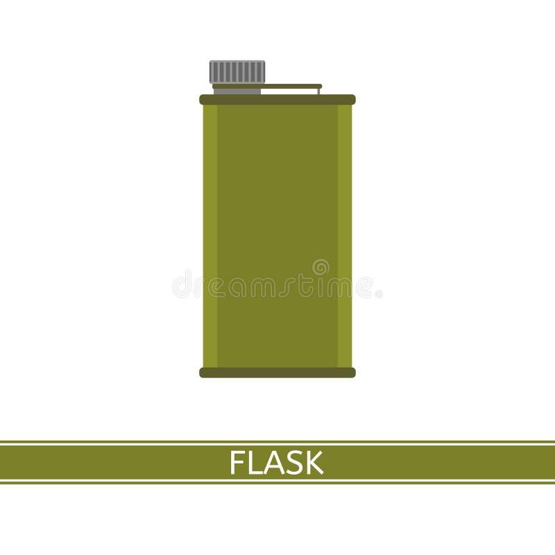 Ícone de acampamento da garrafa ilustração royalty free
