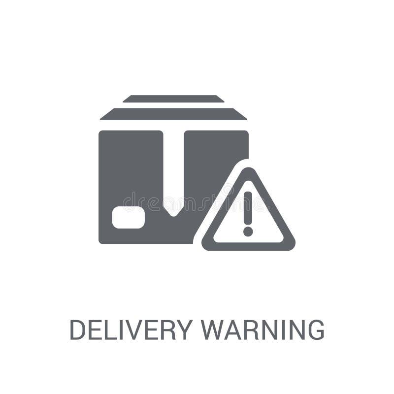 Ícone de advertência da entrega  ilustração do vetor