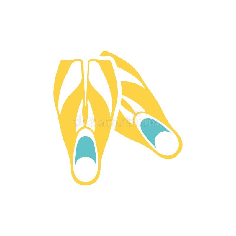 Ícone de aletas da natação ilustração royalty free