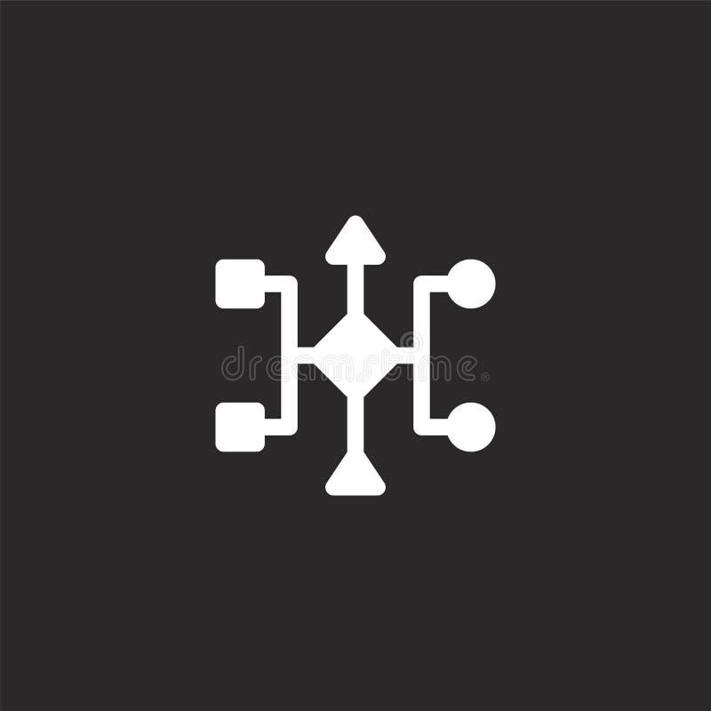 ícone de algoritmo Ícone de algoritmo preenchido para design de site e desenvolvimento de aplicativo móvel ícone de algoritmo do  ilustração stock