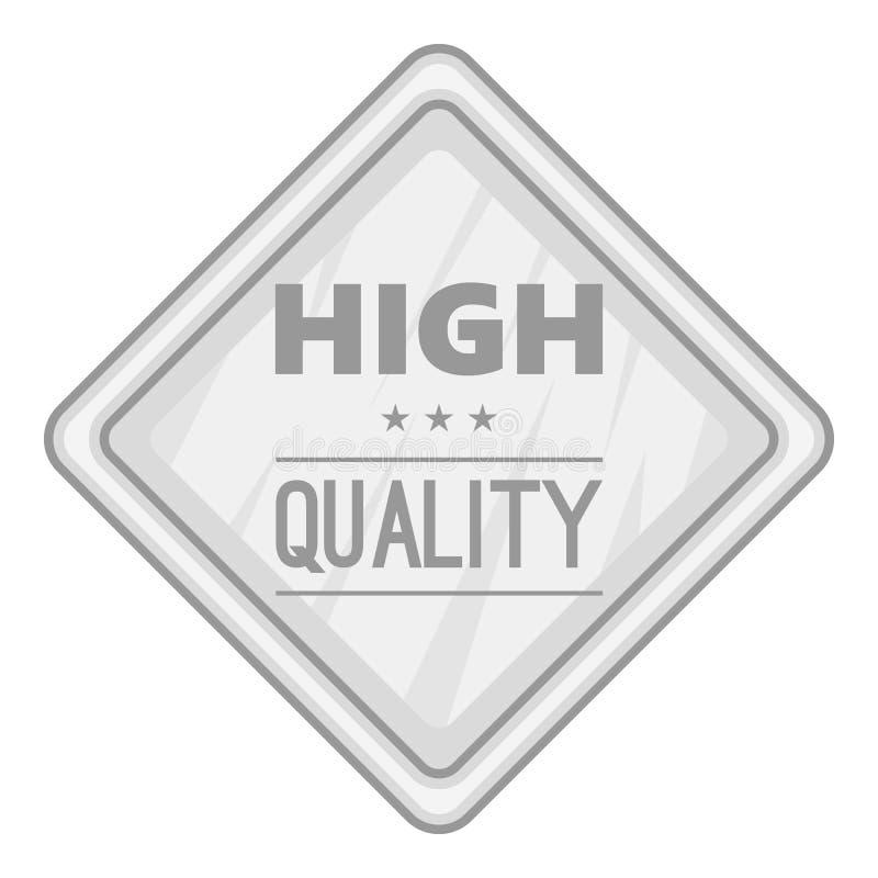 Ícone de alta qualidade da etiqueta, estilo monocromático ilustração royalty free