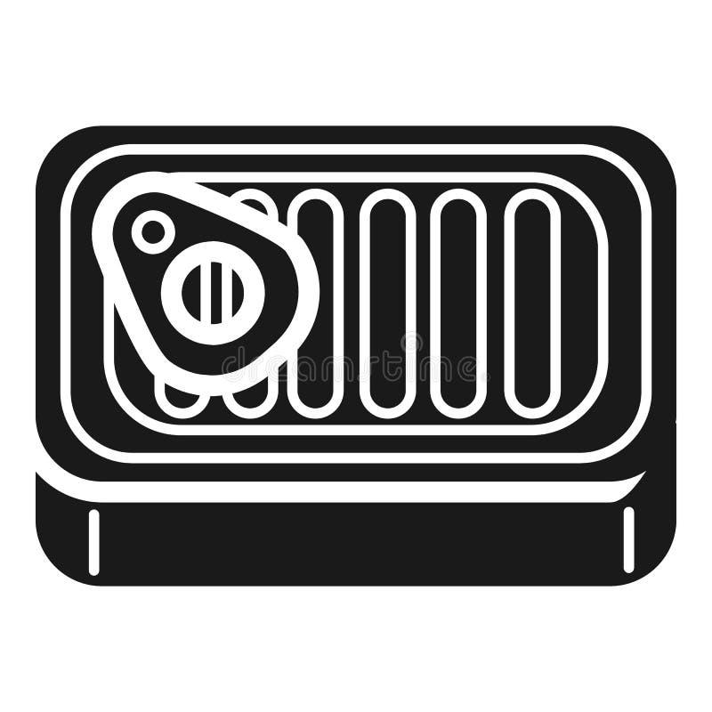 Ícone de alumínio da lata da pasta, estilo simples ilustração do vetor