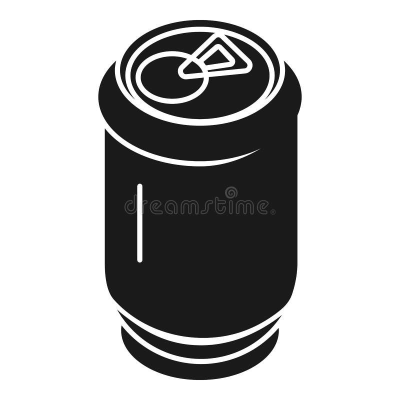 Ícone de alumínio da lata de soda, estilo simples ilustração do vetor
