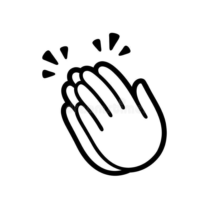 Ícone de aplauso das mãos ilustração stock
