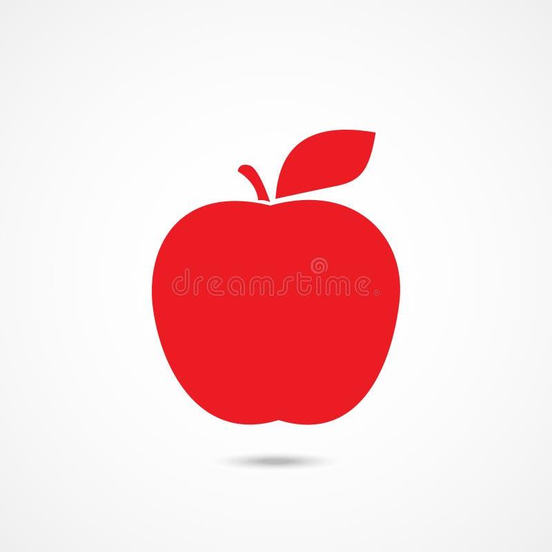 Ícone de Apple no branco ilustração do vetor